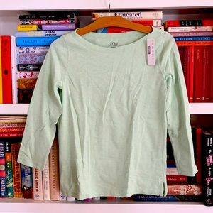 J. Crew Slub Tee Knit Goods Mint Green Size XS